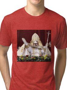 Sloth Pope  Tri-blend T-Shirt