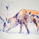 Stag Painting by MikeJory