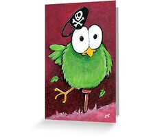 Peg Leg Bird Greeting Card