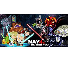 May the 4 be with you!!! Photographic Print
