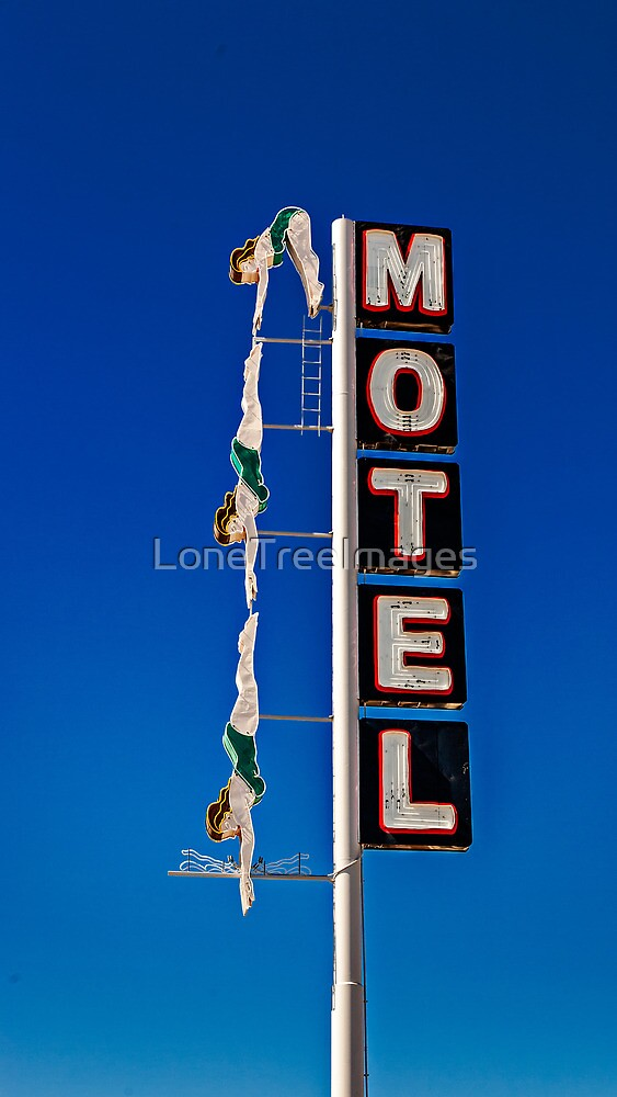 Diving Lady Sign #2555 by LoneTreeImages