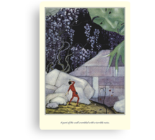 Old French Fairy Tales: The Wall Crumbled Canvas Print