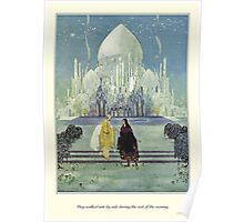 Old French Fairy Tales: They Walked Side by Side Poster