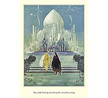 Old French Fairy Tales: They Walked Side by Side Photographic Print