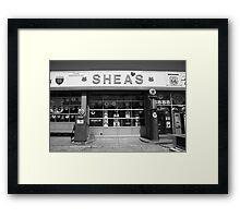 Route 66 - Shea's Filling Station Framed Print