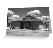 Route 66 - Old Log Cabin Greeting Card