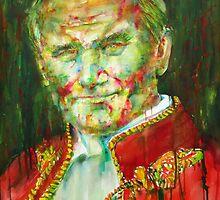 POPE JOHN PAUL II - watercolor portrait by lautir
