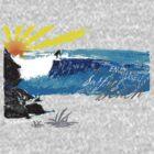 Wave Shirt - Charleston Beach New Zealand by Heiko Voss