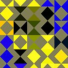 Blue geometric pattern by RosiLorz