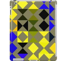 Blue geometric pattern iPad Case/Skin