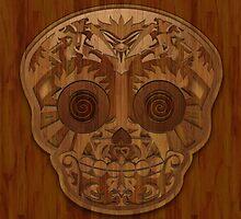 Wooden Sugar Skull by Joey Gates