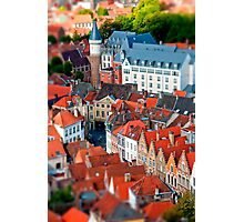 Bruges (tilt and shift) Photographic Print