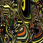 Abstract lines and circles by RosiLorz