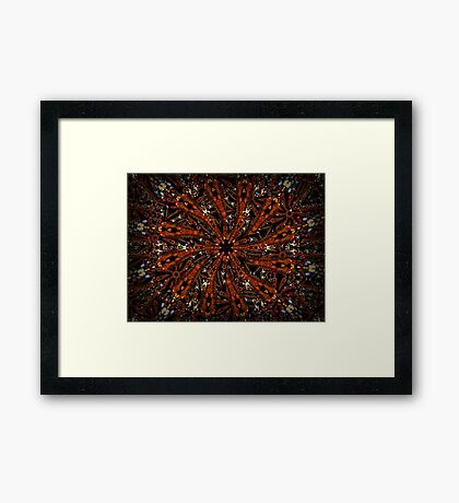 ©DA Fractal Star IA Framed Print