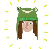 Self Portrait in Frog Hat by Sophie Corrigan
