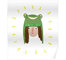 Self Portrait in Frog Hat Poster