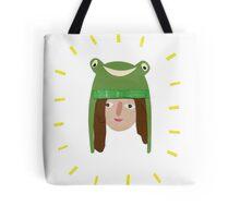 Self Portrait in Frog Hat Tote Bag