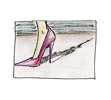 High Heel (Preliminary Sketch) by Lindsey Butler