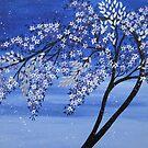 vibrant creative blue tree by cathyjacobs