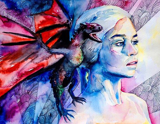 Daenerys Targaryen - game of thrones  by Slaveika Aladjova