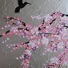 pink cherry blossom by cathyjacobs