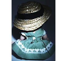The Cute yet Quiet Girl in a Hat Photographic Print