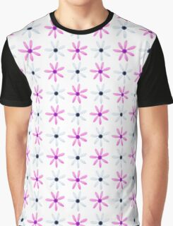 Fuchsia pink gray abstract floral pattern Graphic T-Shirt