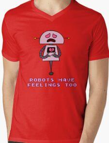Robots Have Feelings Too Mens V-Neck T-Shirt
