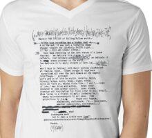 GY!BE Letter Mens V-Neck T-Shirt