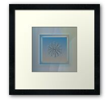 Wheel of time, real snowflake photo Framed Print