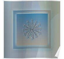 Wheel of time, real snowflake photo Poster