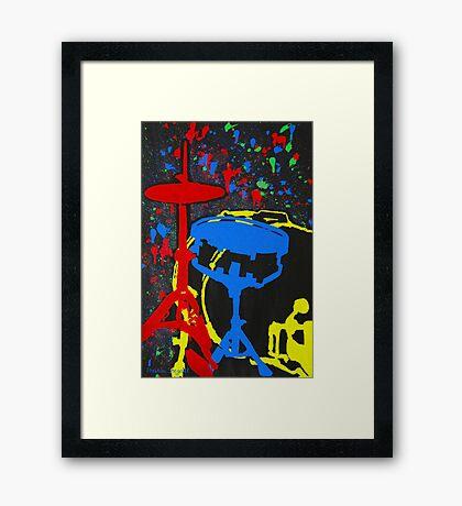 Drums Set Framed Print