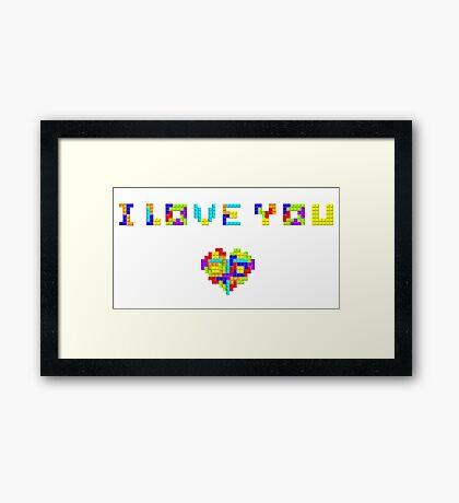 Tetris Love Framed Print