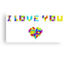 Tetris Love Canvas Print