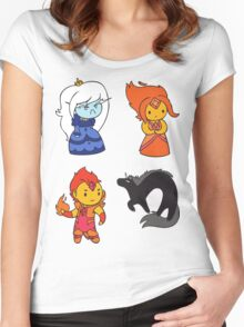 Adventure Time Chibis - Set 3 Women's Fitted Scoop T-Shirt