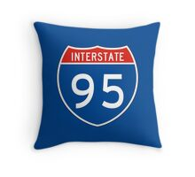 Interstate Sign 95, USA Throw Pillow