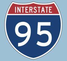 Interstate Sign 95, USA Kids Tee