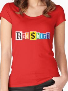 Red Shirt - Rainbow Women's Fitted Scoop T-Shirt