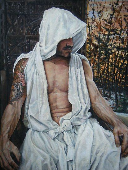 the gentle man  acrylic on canvas by Thomas Acevedo