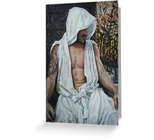 the gentle man  acrylic on canvas Greeting Card