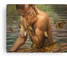 chasing butterflies  Canvas Print