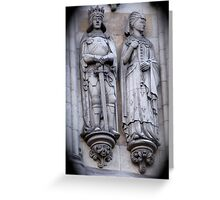 Westminster Abby Stonework Detail Greeting Card