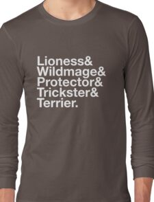 Tortall heroines: Titles Long Sleeve T-Shirt