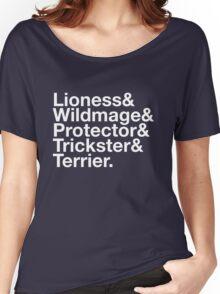 Tortall heroines: Titles Women's Relaxed Fit T-Shirt