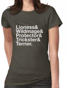 Tortall heroines: Titles Womens Fitted T-Shirt