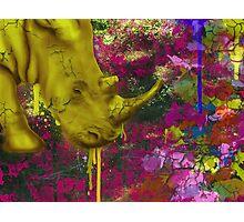 Urban Rhinoceros  Photographic Print