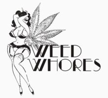 Weed Whores - Pin Up - Black by lilpoisonberryy