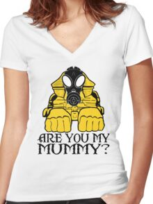Dr. Who sphinx are you my mummy? Women's Fitted V-Neck T-Shirt