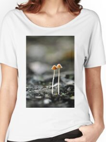 mushrooms in the dark Women's Relaxed Fit T-Shirt