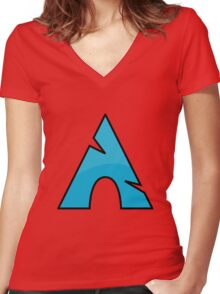 Archlinux Women's Fitted V-Neck T-Shirt